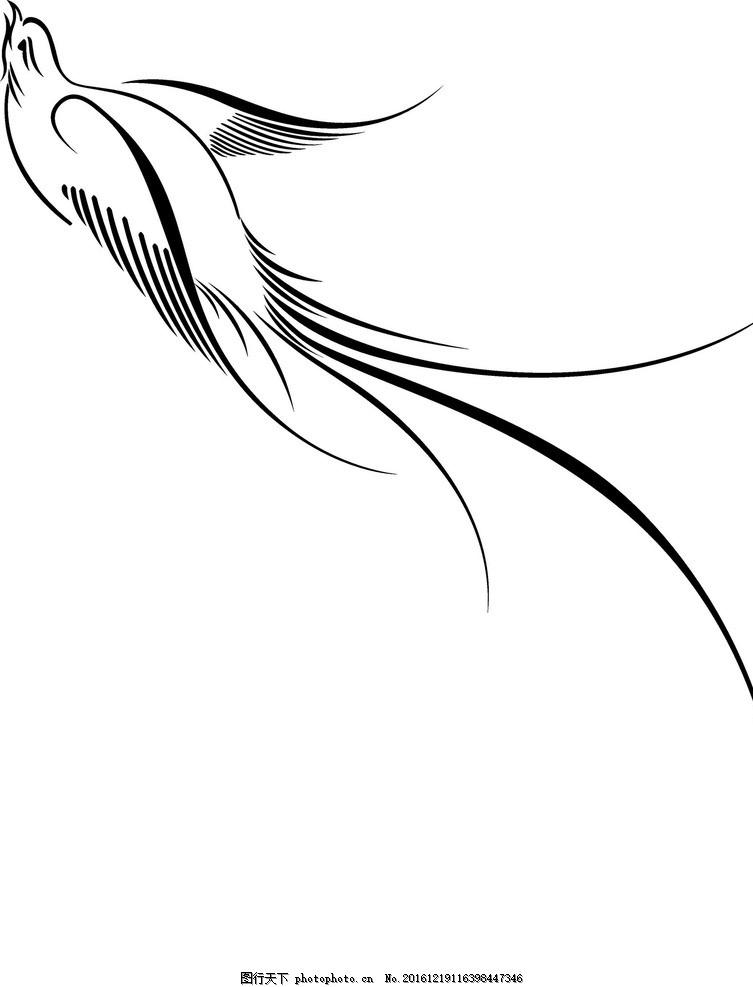 线描 花纹 底纹 线条 唯美 小鸟线描 纹理 设计 底纹边框 条纹线条 ai