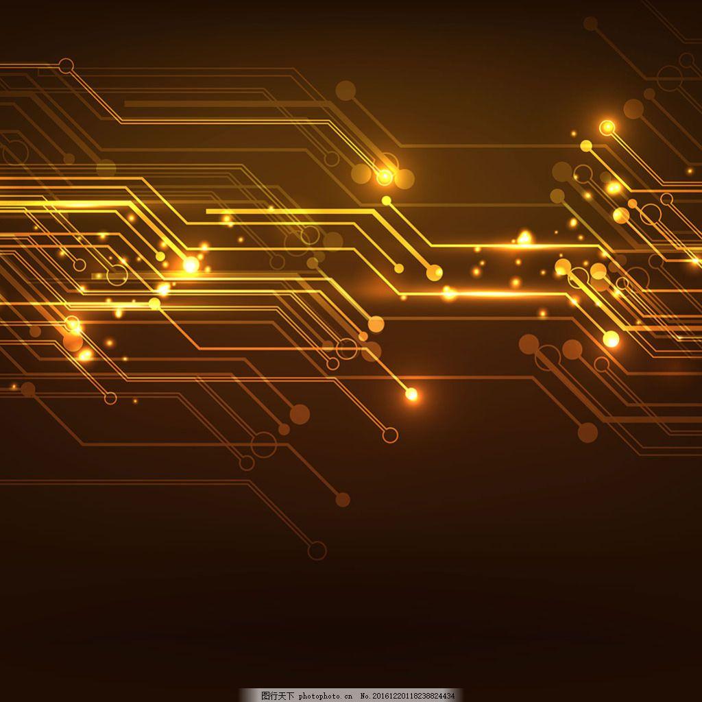 2017创意科技元素电路线条背景