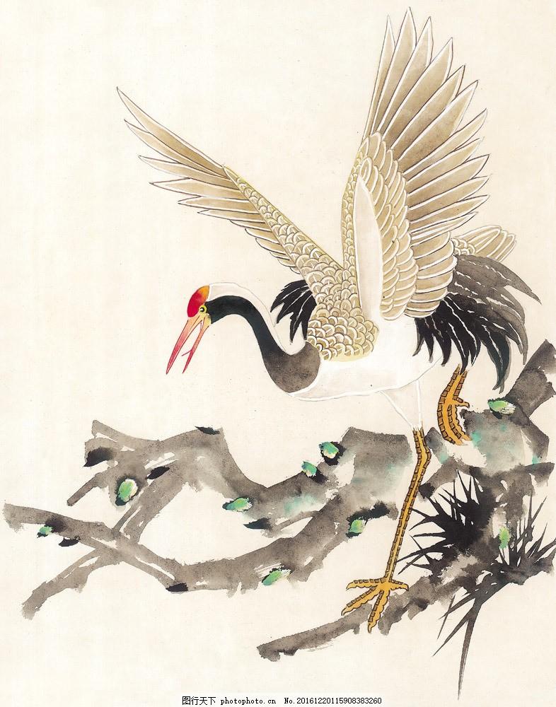 水墨仙鹤图片素材 水墨画 名画 花鸟画 仙鹤 国画 中国画 绘画艺术