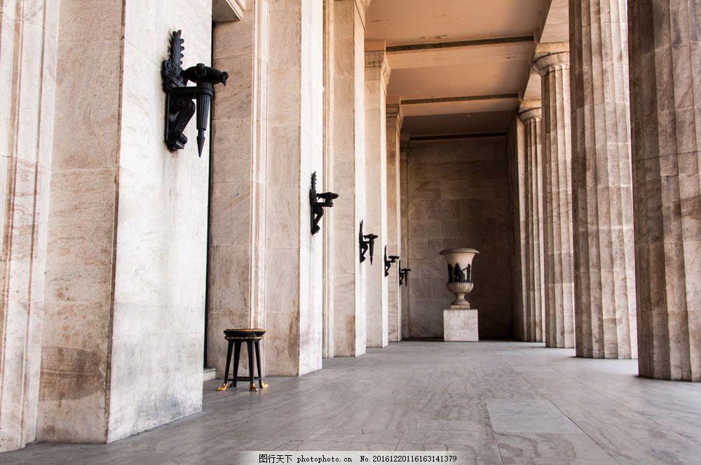 欧式复古罗马柱图片
