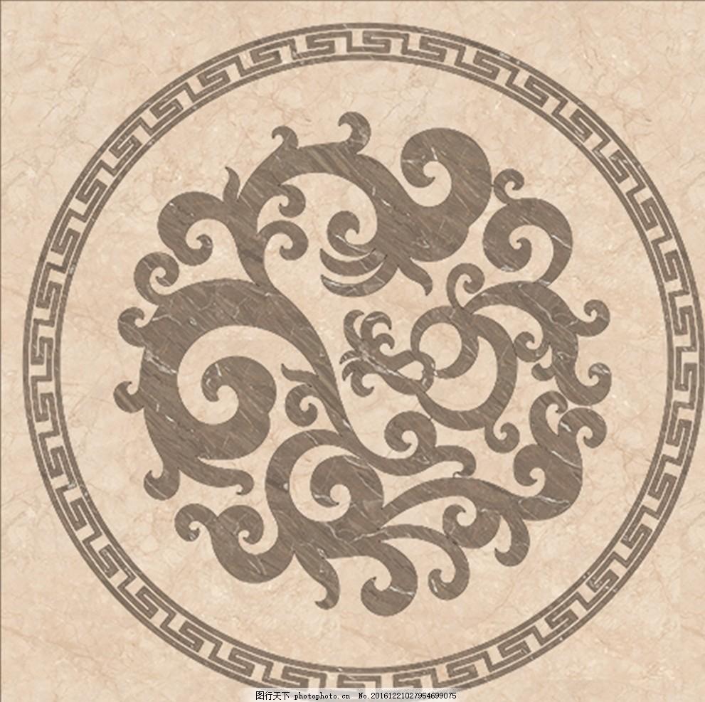 欧式 图案 地毯图案 地面 装饰 花形 地毯 室内设计素材 大理石拼花图片