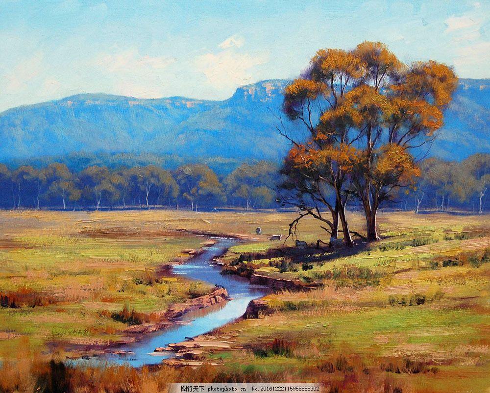 油画 田园风景图片