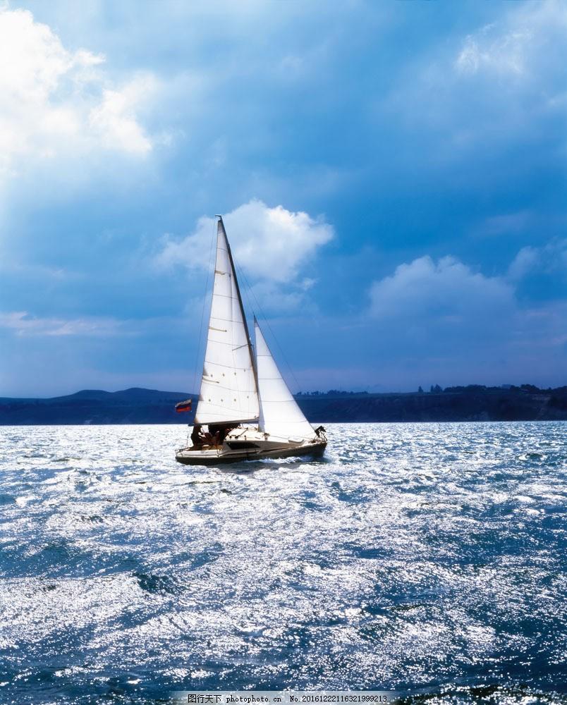 帆船图片素材 帆船 游艇 游船 小船 大海 海面航行 大海图片 风景图片