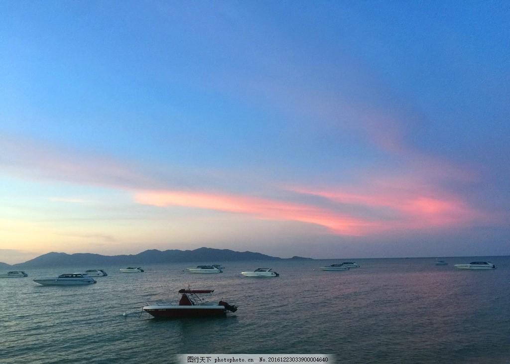 旅游 海景 黄昏 夕阳 船 小岛 摄影 旅游摄影 国外旅游 72dpi jpg