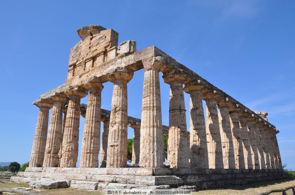 罗马柱建筑 罗马柱建筑图片素材 欧式建筑 石柱 古典建筑 古迹