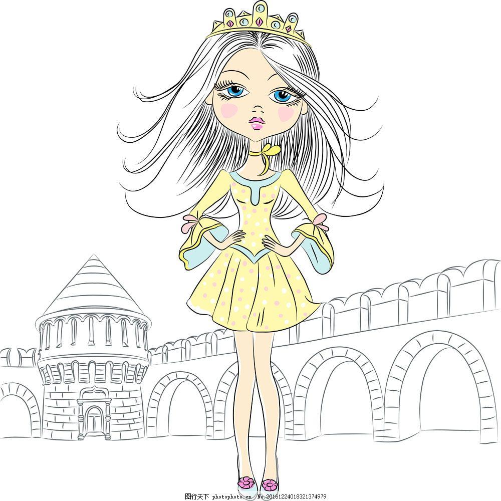 漫画公主 手绘 素描