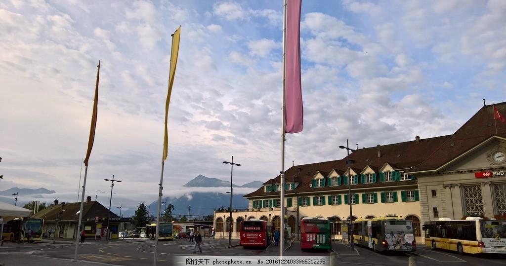 瑞士日內瓦火車站的清晨