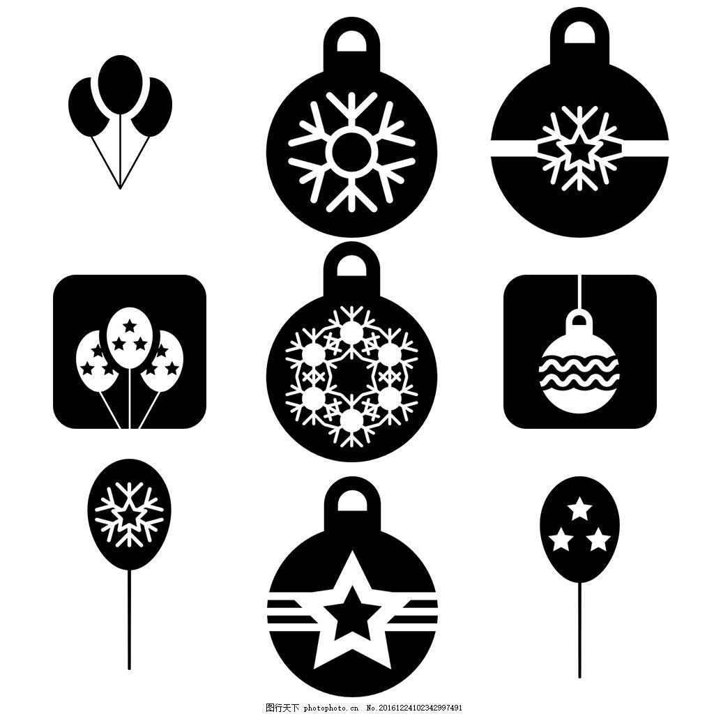 线性 扁平 手绘 单色 多色 简约 精美 可爱 图标 icon eps 圣诞节