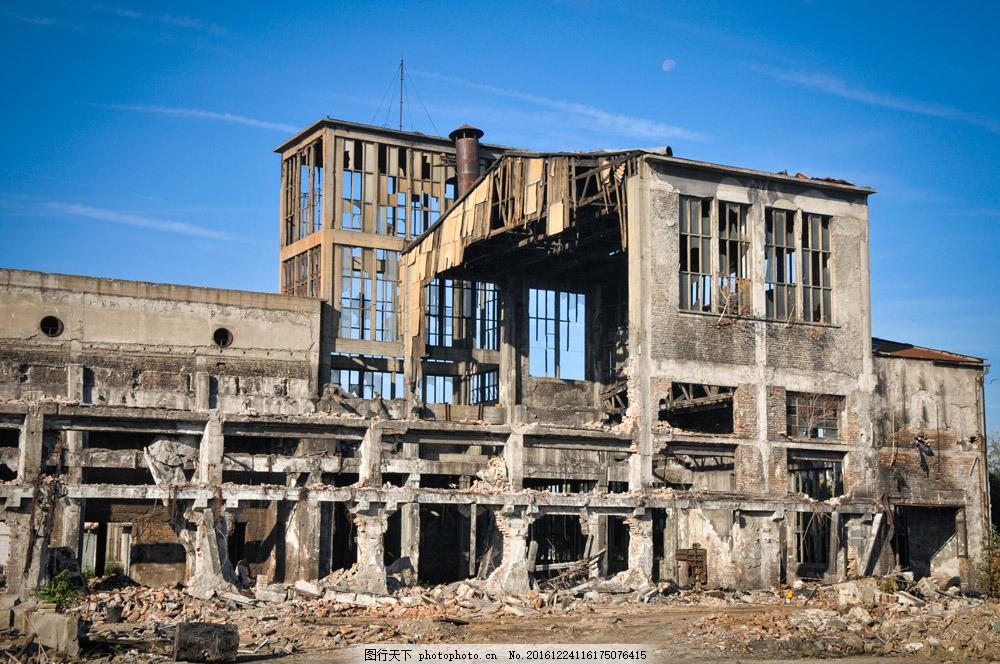 废弃的厂房图片