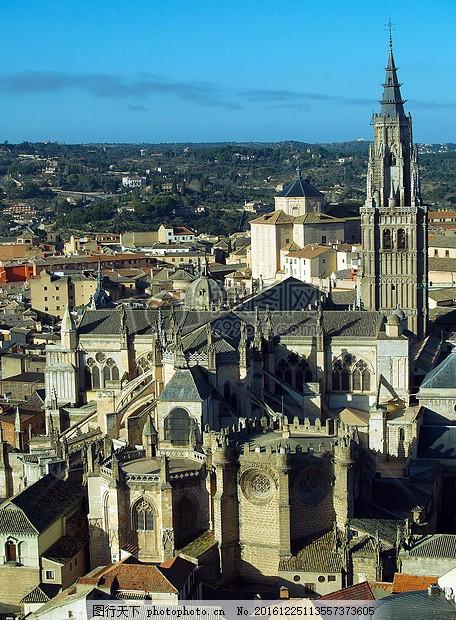异域的风情 异域风景 欧美式 建筑 古城 国外 蓝天 地标     红色 jpg