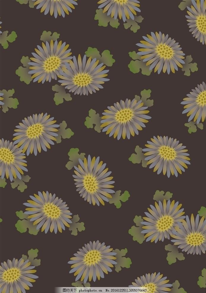 日本图案 植物花卉 传统纹样 友禅纹样 和风 和服图案 服装艺术