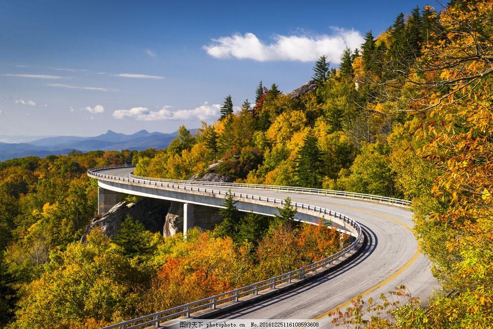 弯曲的道路风景图片