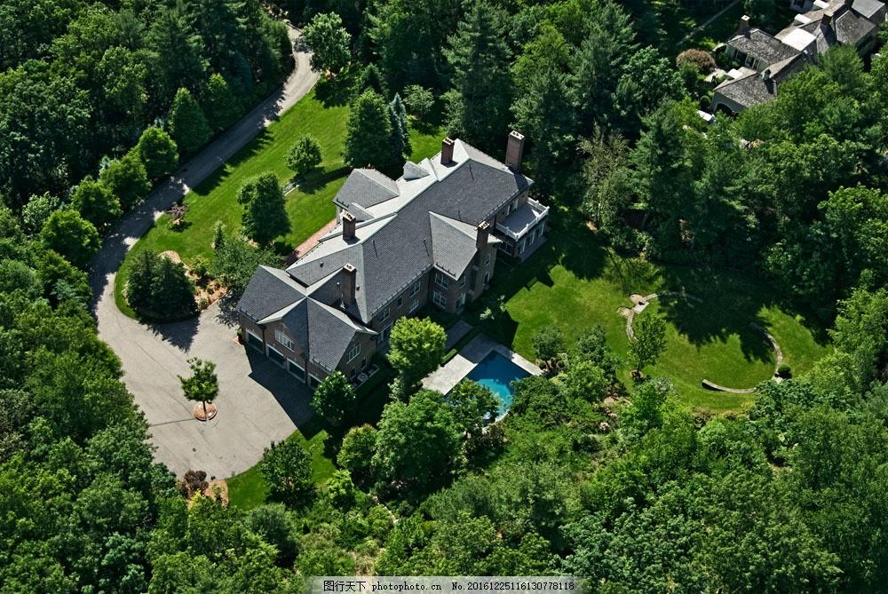别墅区俯视图图片