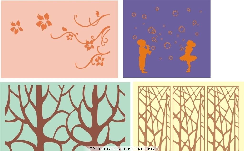 印花图案硅藻泥图案