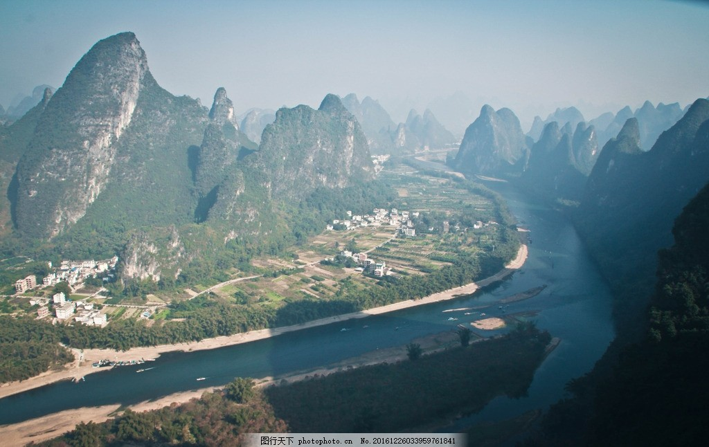 桂林 山水 九马画山 漓江 山 水 好看的照片 风景 美景 河流 河 桂林