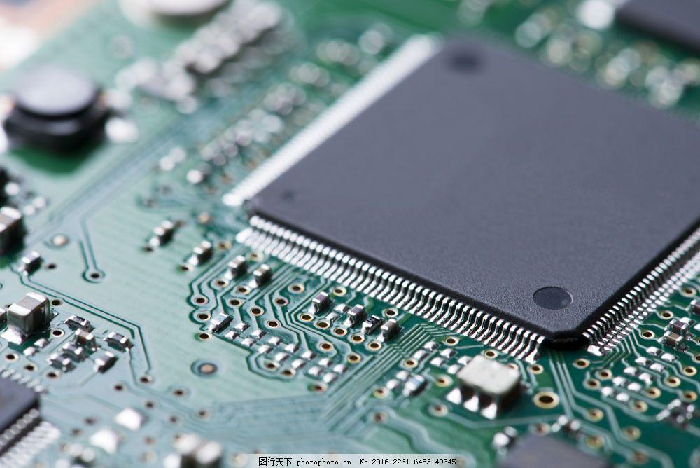 电脑芯片摄影图片素材 电脑芯片 cpu 中央处理器 电脑零件 电脑主板