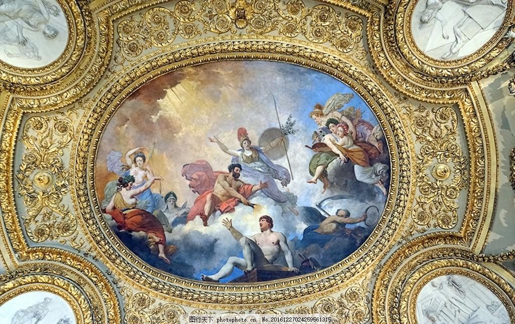 欧式天使天花板图案