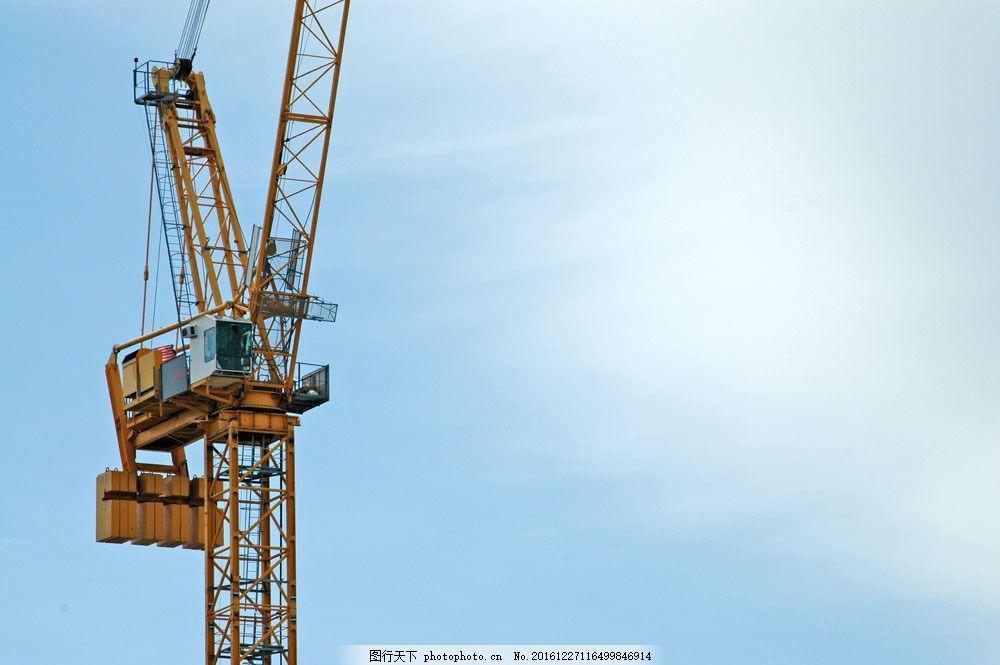 塔吊 塔吊图片素材 工业生产 起重机 现代科技