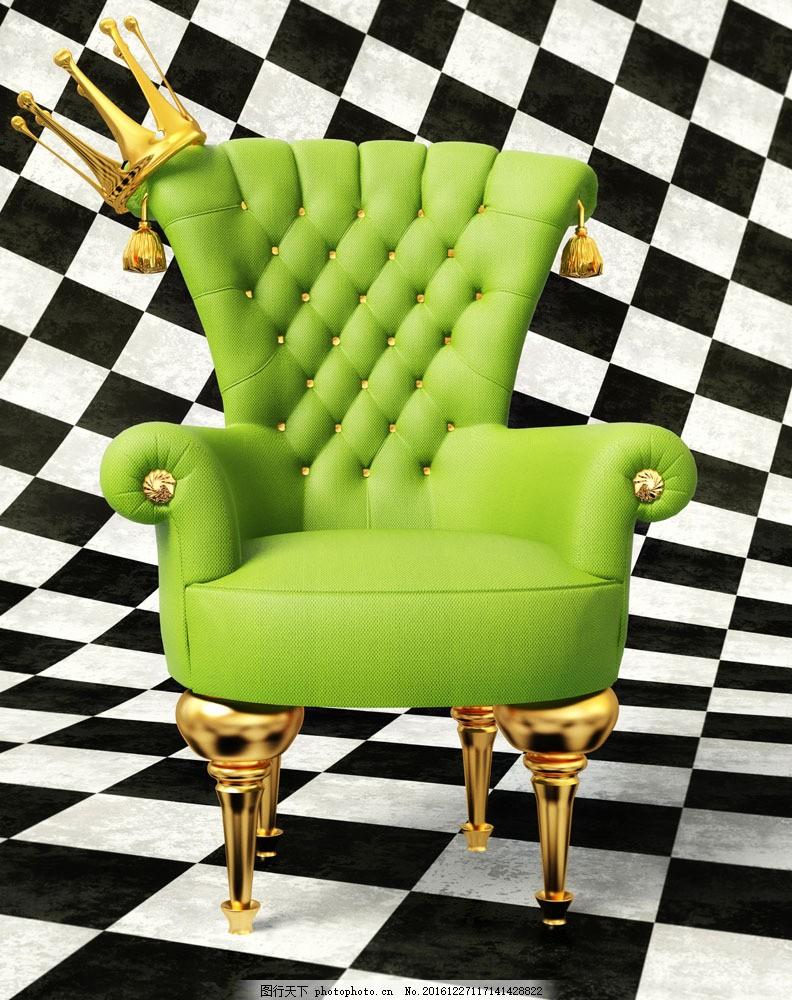 绿色皇冠欧式椅子图片