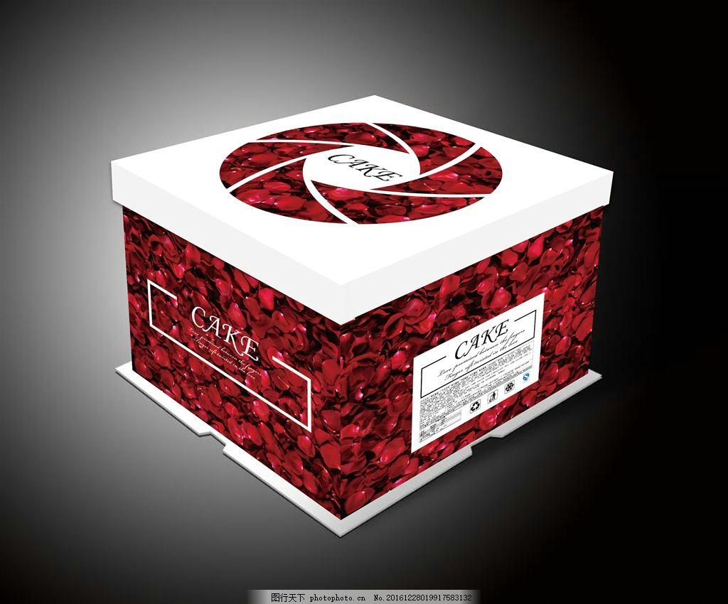 蛋糕盒展开图 蛋糕盒矢量 玫瑰蛋糕盒 方形蛋糕盒 广告设计 包装设计