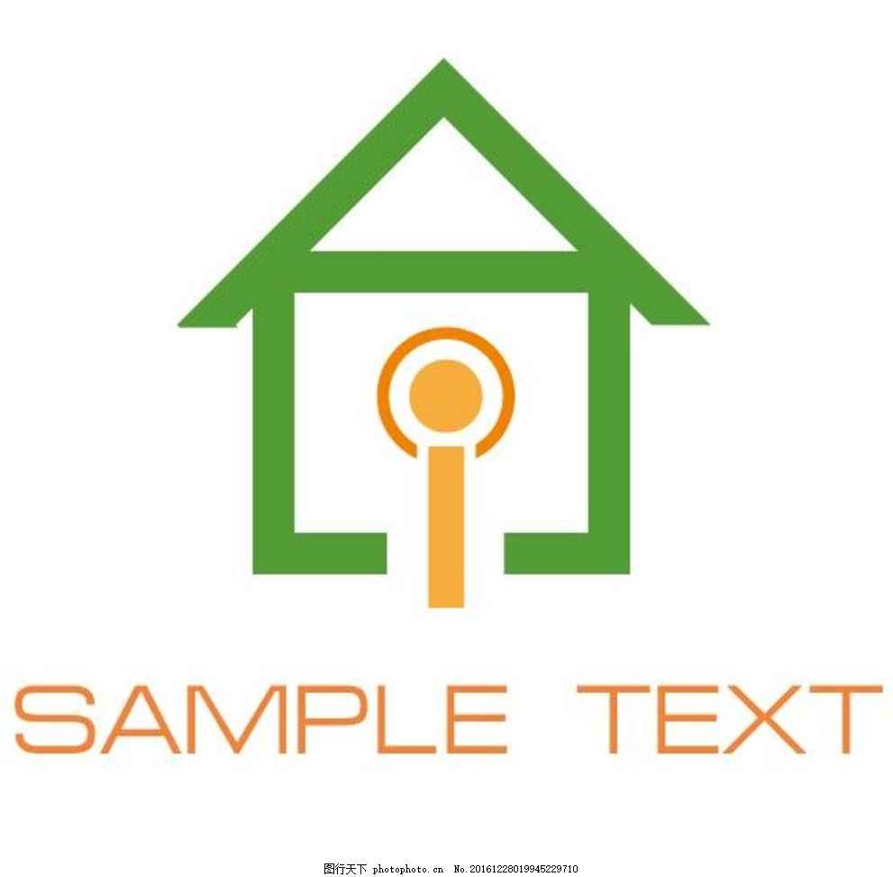 房子logo 房子 矢量 抽象 企业logo标志 标识标志图标 屋子 房屋 地产
