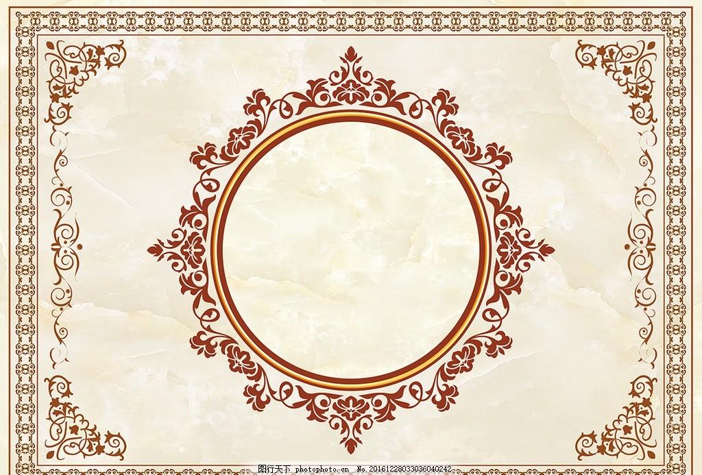 欧式花纹地毯天花吊顶背景墙