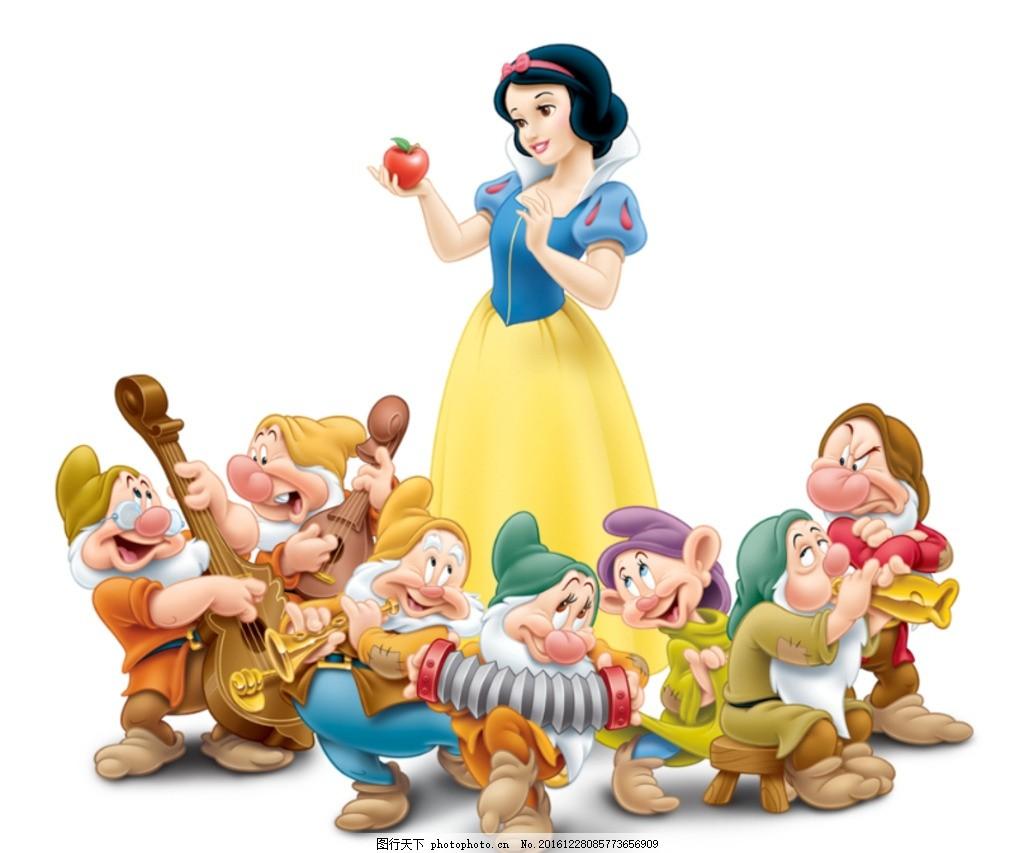 迪士尼 公主 卡通人物 儿童动画 高清素材 卡通图案 设计 psd分层素材