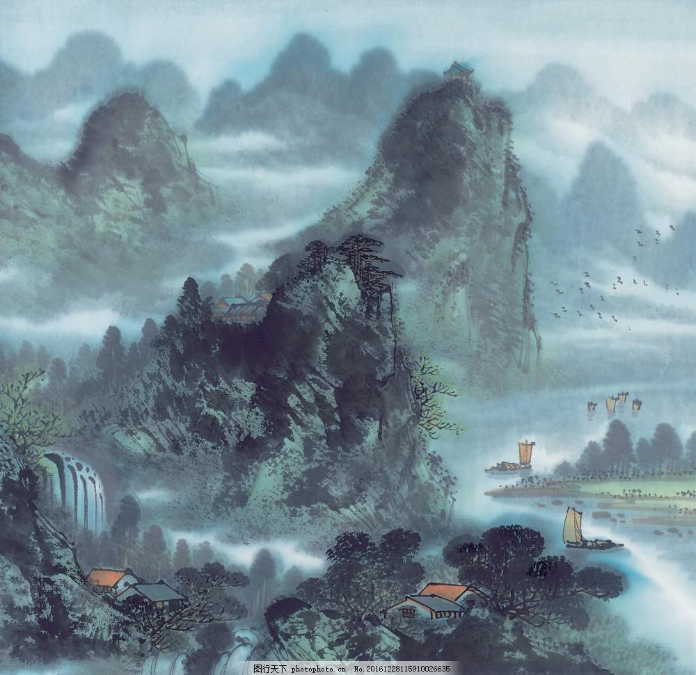 山水风景写意画图片