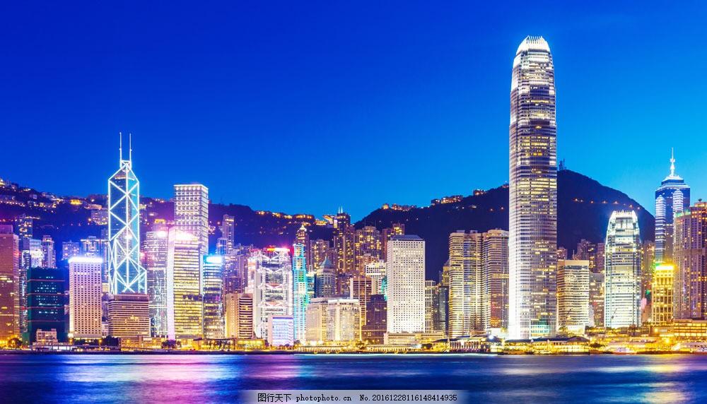 高楼上的灯光 高楼上的灯光图片素材 夜晚 城市 建筑物 倒影 城市风光
