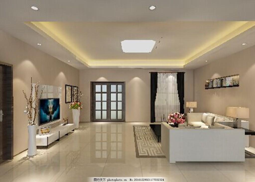 3dmax建模室内客厅 3d 室内 建模      渲染 灯光 设计 3d设计 3d作品图片