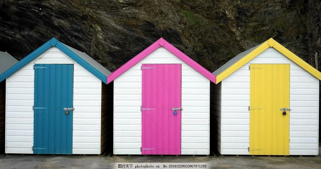 彩色房子 建筑 房屋 国外 欧式房屋 欧式建筑 漂亮的房子 美国 风景