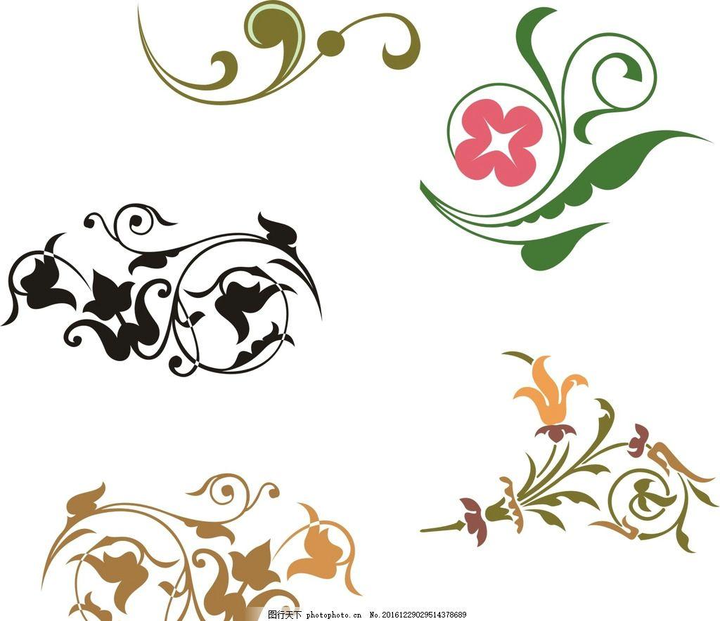 欧式 古典花边 时尚 花纹花边 黑白花纹 精美花纹 喜庆花纹 欧式花纹