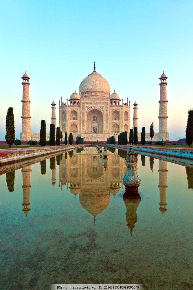 泰姬陵風景圖片素材 泰姬陵 印度旅游景點 美麗風景 印度建筑風景