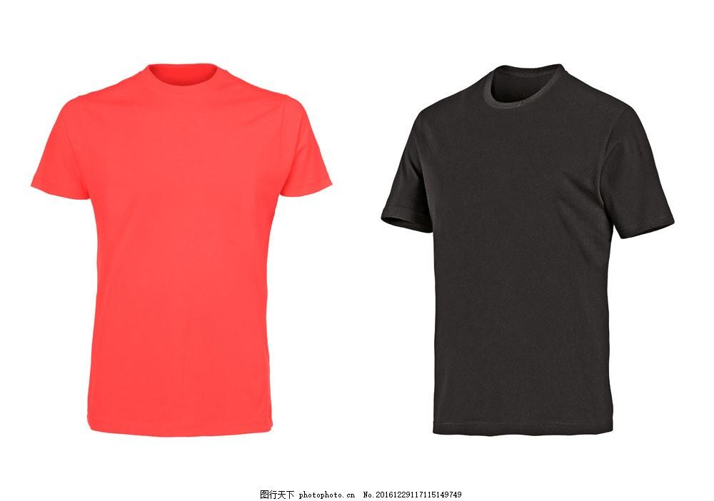 红色黑色女式t恤 上衣 服装 珠宝服饰 图片素材