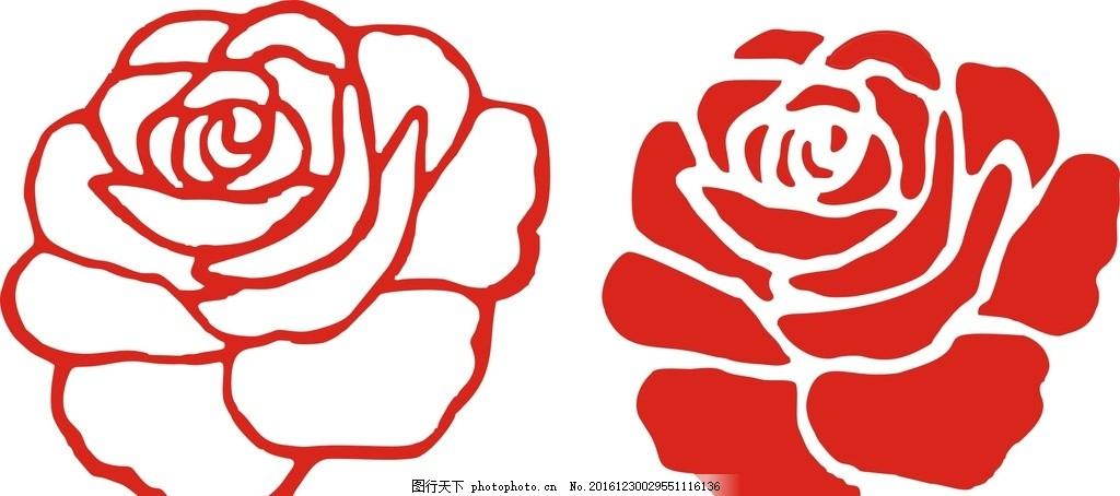 黑白玫瑰花 玫瑰花 线条 玫瑰花卉 手绘玫瑰 古典 时尚 绽放 玫瑰