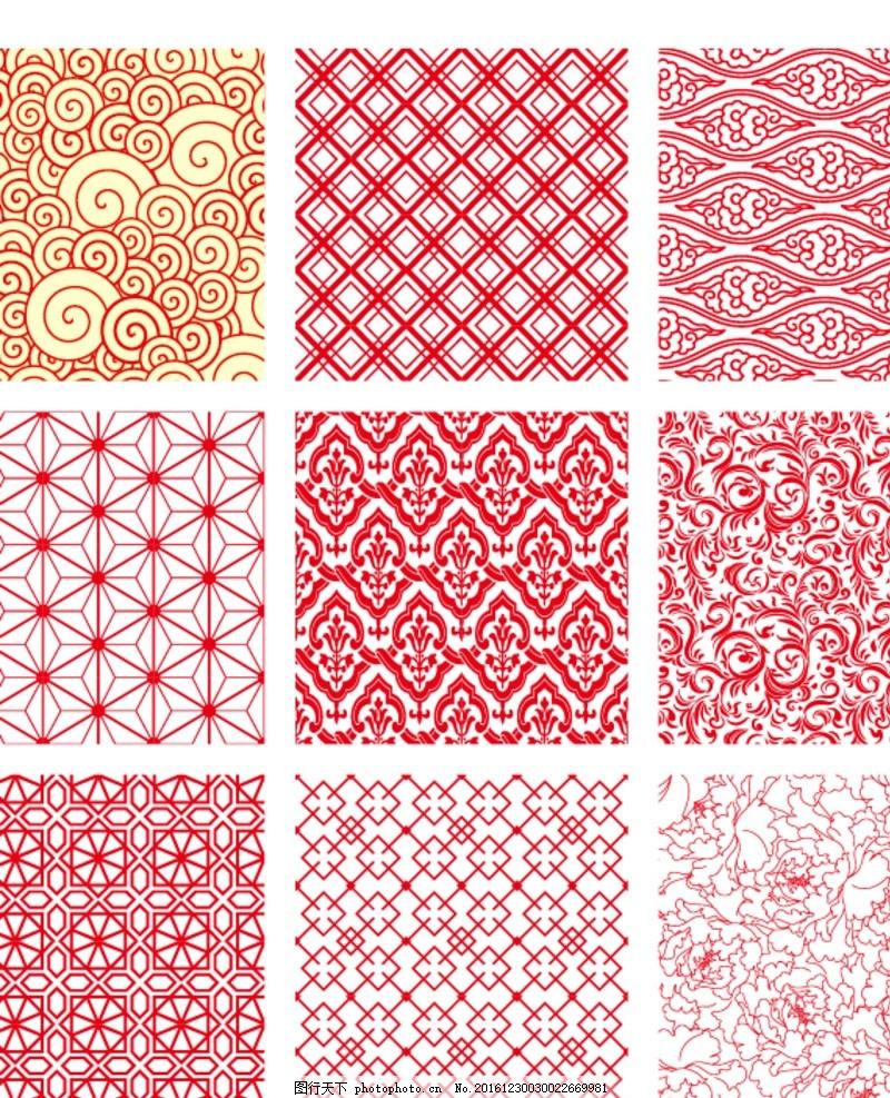 欧式花纹 复古花纹 现代花纹 底纹 纹路 图案 经典图案 墙纸 瓷砖图案