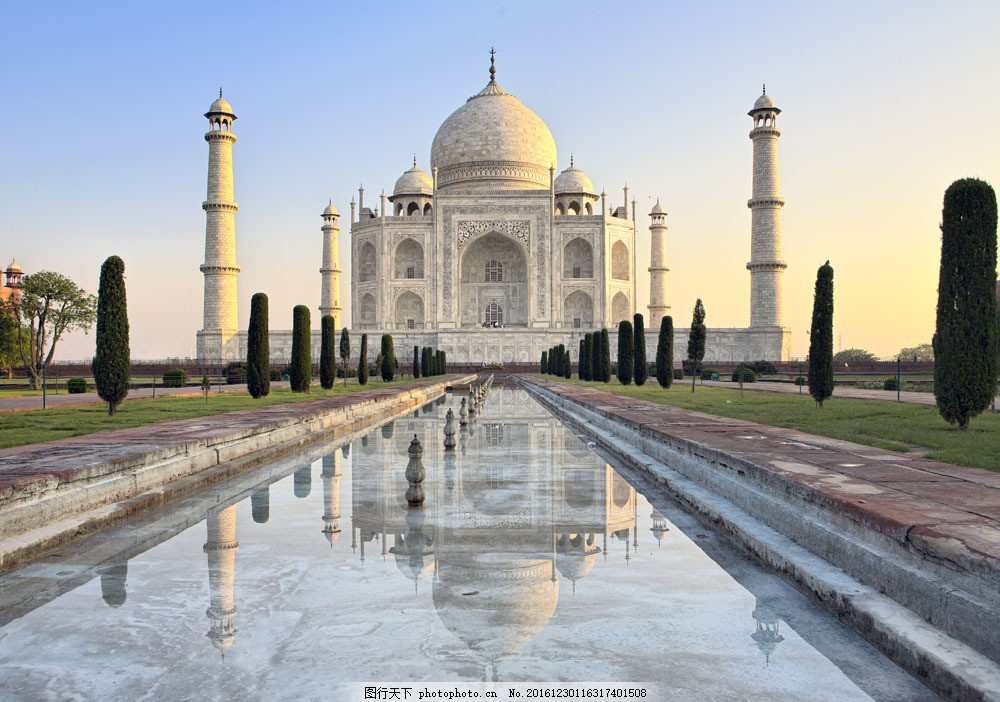 泰姬陵风景图片素材 泰姬陵 印度旅游景点 建筑风景 标志性建筑 世界