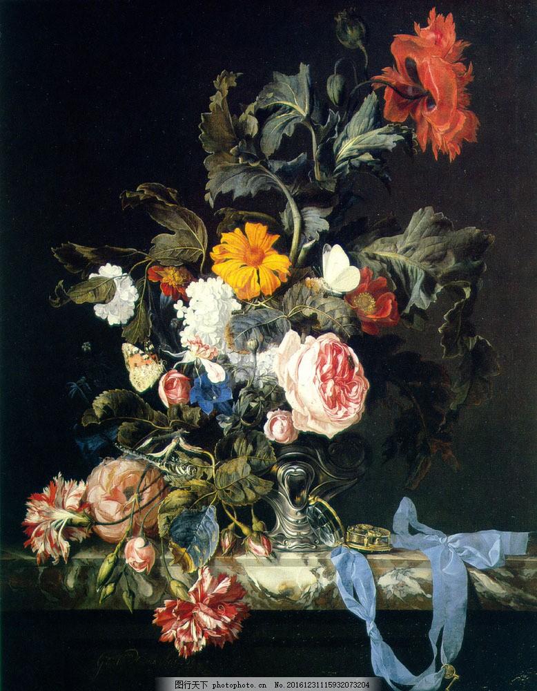 花卉油画 花卉素材 花卉 欧式花卉 装饰画 水彩花卉 花卉风景 绘画