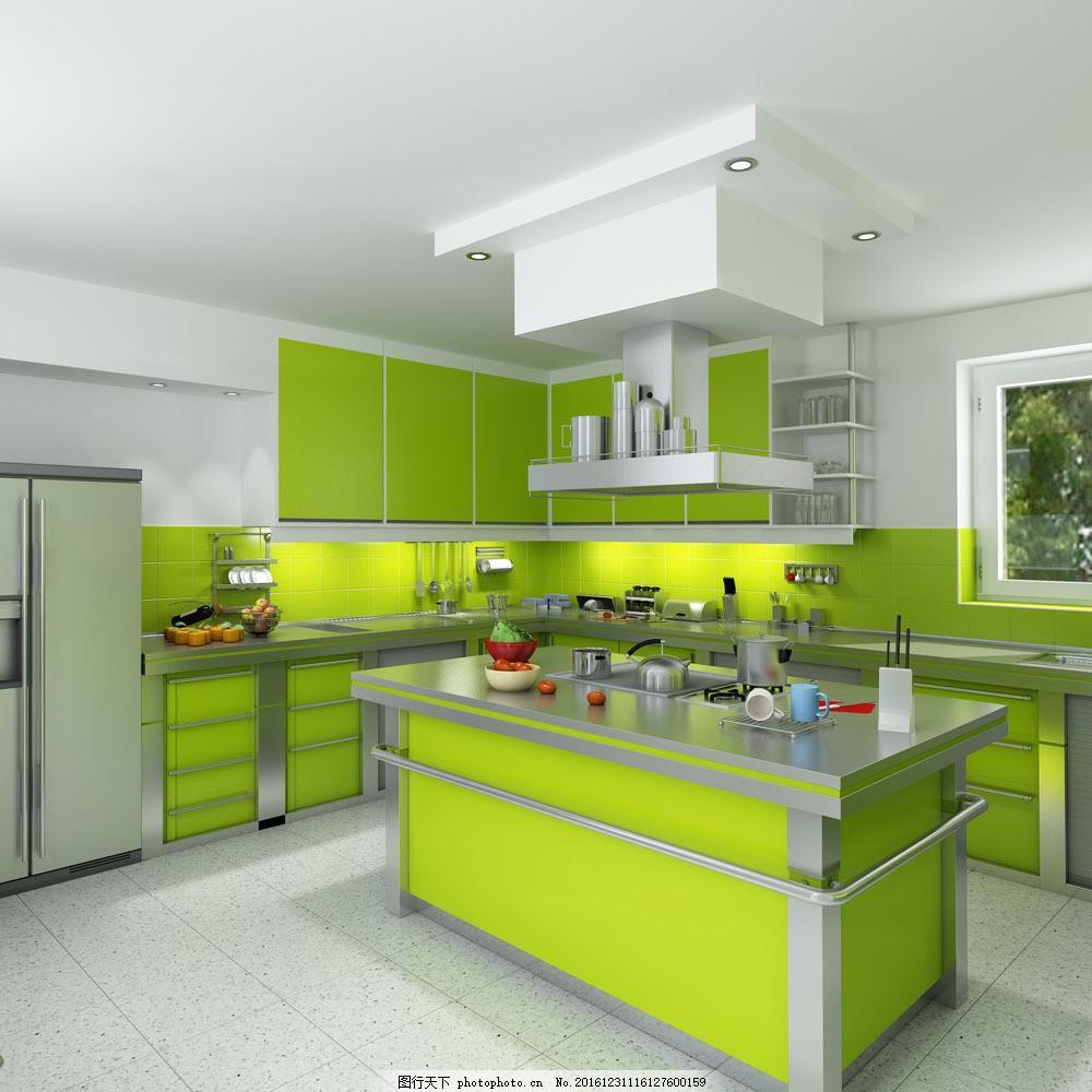 厨房装修效果图 厨房装修效果图图片素材 厨具 厨柜 厨房设计 装修