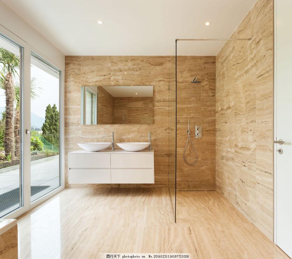 简洁洗手间效果图 简洁洗手间效果图图片素材 装修图 设计图 室内设计